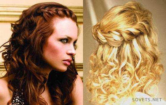 Красивые причёски для кудрявых волос