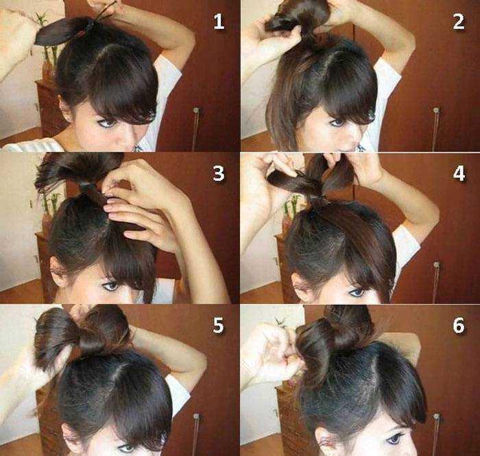 Как сделать бант из волос : подробная инструкция с фото