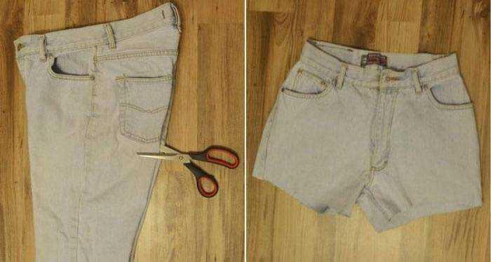 50 Идей, как из джинс сделать модные шорты Пошаговые фото