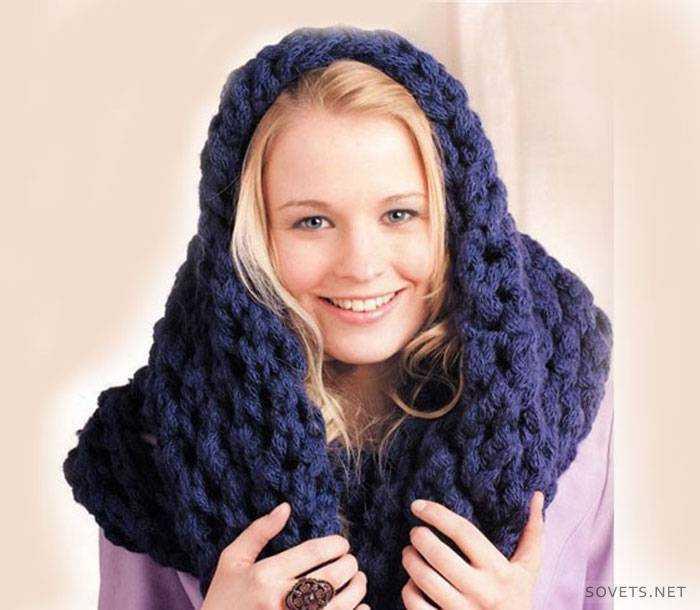 Как связать шарф-хомут спицами. Что такое снуд  8572f0a2fbc9e