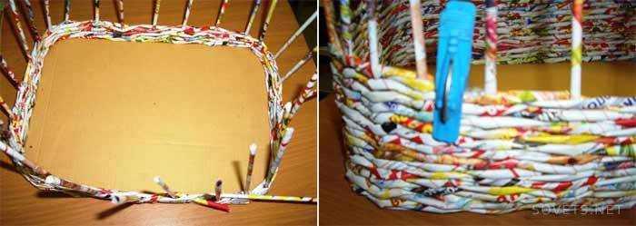 Плетение из журнальных трубочек для начинающих пошагово видео