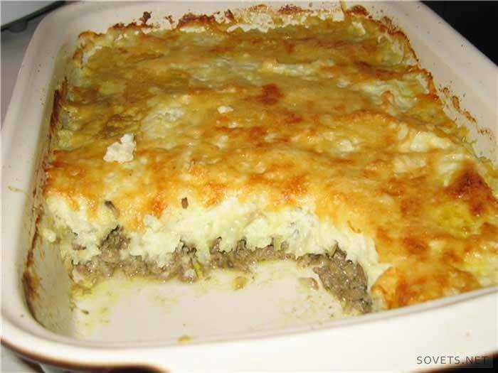 Запеченный картофель с фаршем рецепт