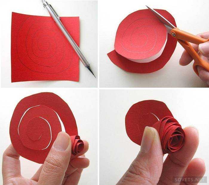 Как сделать из бумаги розу ребёнку