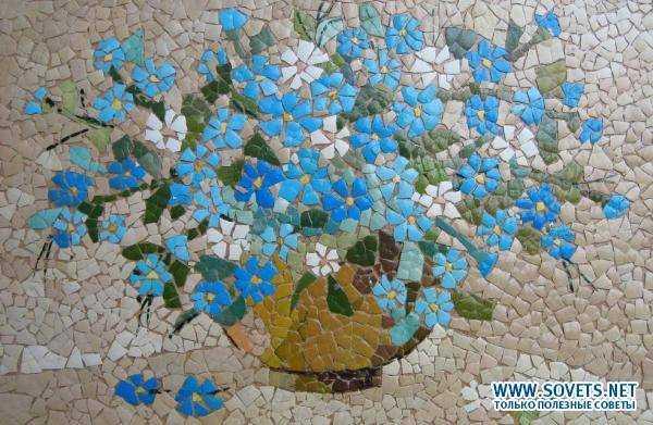 Мозаика из скорлупы своими руками